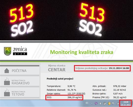 Greške monitoring servera