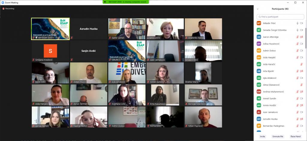 Online sastanak za izradu strategije zaštite okoliša BiH